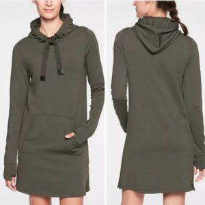 Athleta Surrey Hills Hoodie Sweatshirt Dress SZ L